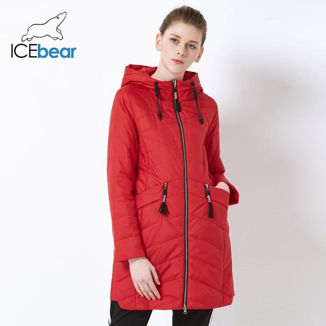 ICEbear 2019 חדש אביב גבירותיי מעיל נשים של מעיל עם מותניים עיצוב אופנה מקרית סלעית נשים צמר מעיל GWC18112I