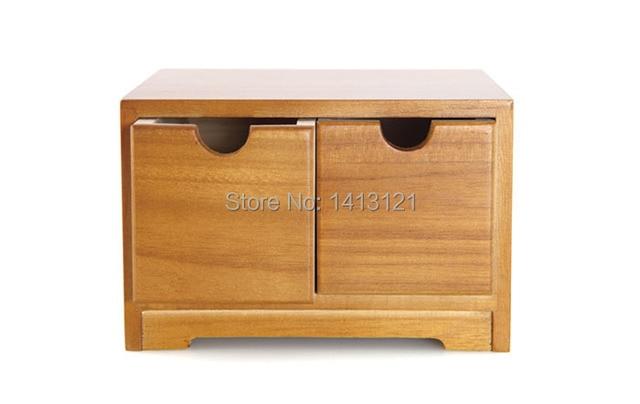 Livraison gratuite en bois tiroir de rangement de bureau débris
