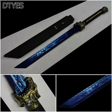 Movie Sword Chinese High Manganese Steel Modern Swords Full Handmade Chinese Dao Sword Baked Blue Blade Beautiful Sword