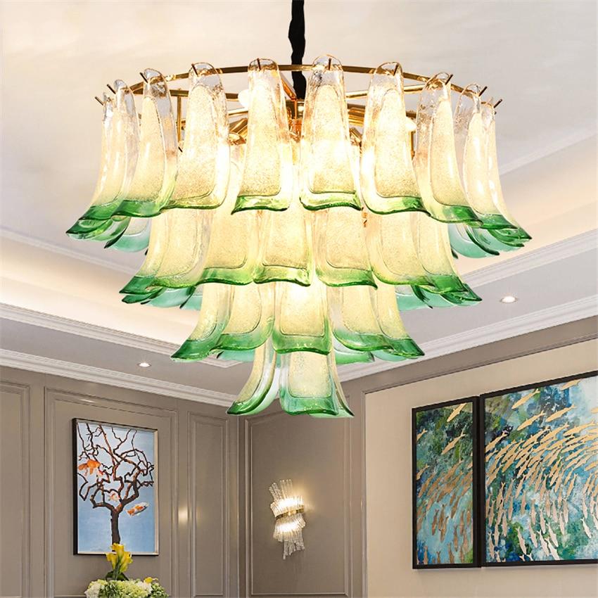 Nordic LED Crystal Simple Pendant Lights Lighting Peacock Green Interior Decorative  Lamp Modern Pendant Lamps Luminaria
