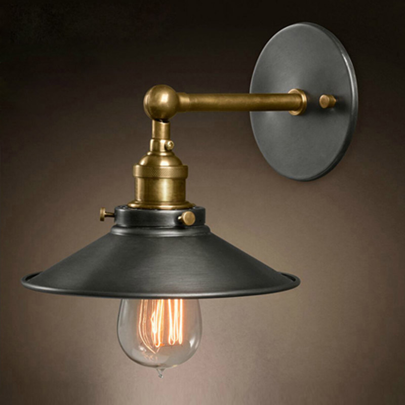 Wall Lamps Indoor : American vintage wall lamp indoor lighting bedside lamps wall lights for home diameter 22cm 110V ...