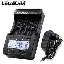Liitokala cargador de batería de litio para cigarrillo electrónico pila de ion de litio modelo lii 500 402 202 300 S1 LCD 3,7 V 18650 26650 18500 18350 AA AAA Ni MH