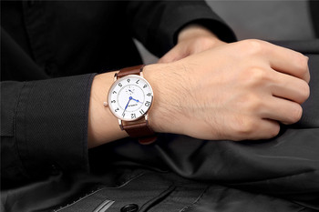 ņ�販売クリアランス男性クォーツ時計メンズスポーツ腕時計ブランド高級スーパースリムレザーストラップメンズ腕時計レロジオ Masculino