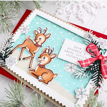TPP Christmas deer Clear rubber stamps/kids clear stamps and dies for scrapbooking/card making/children stamp