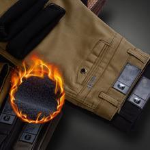 2018 New Business Casual Suit Pants For Men Winter Fleece Warm Cotton Thickening Regular Classic Formal