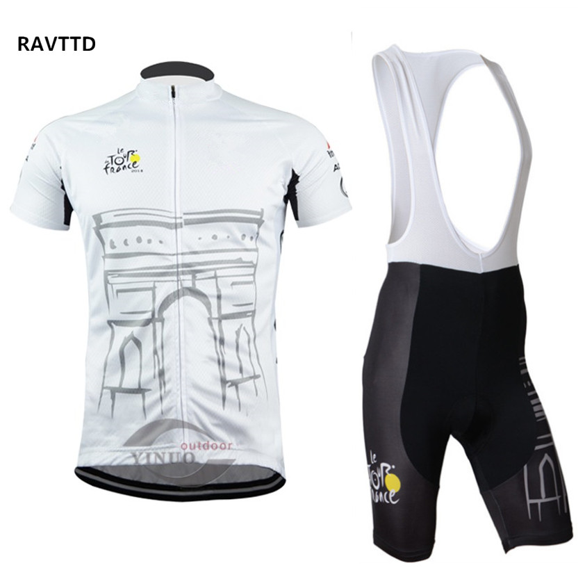 Tour de France Team Men Cycling Clothing Short Sleeve Summer Road Bike Jerseys Ropa Ciclismo/Cycling jersey White pro team cycling jersey cycling clothing ropa ciclismo short sleeve polyester bike jerseys and silica gel pants for mtb gt21