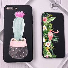 hot deal buy fashion cactus for case iphone 8 xs max flamingo coque for funda iphone 6 plus cases cover for iphone x xs xr 7 5s se x 7 8 plus