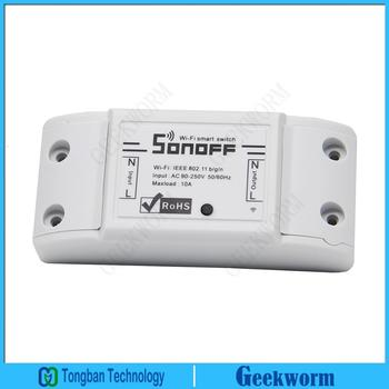 IoT Sonoff DIY Wireless Wifi Switch Timer Switch APP Controll Switch Module Internet of Things Device for Smart Home