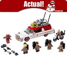 Lepin 16032 Movie Technic Series Ghostbusters Ecto-1 & 2 Building Kit Block Brick Children DIY Toys Hobbies Christmas Gift 75828