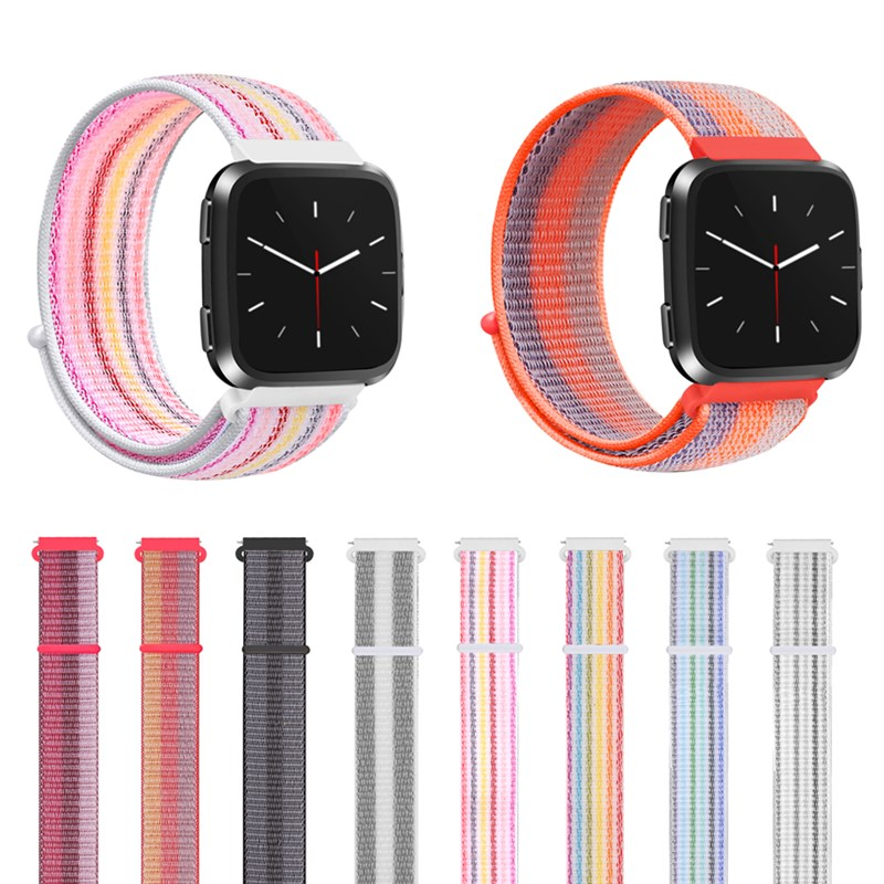 Sport Colorful Nylon Watch Strap For Fitbit Versa Fashion Replacement Bands Women Men New Breathable Smart Watch WristbandSport Colorful Nylon Watch Strap For Fitbit Versa Fashion Replacement Bands Women Men New Breathable Smart Watch Wristband