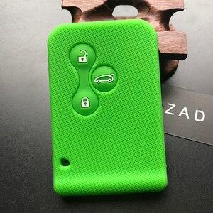 Image 3 - ZAD gumy silikonowej samochód karta klucz skrzynki pokrywa dla Renault Clio Megane Grand Scenic 3 przycisk obudowa kluczyka do samochodu przypadku powłoki