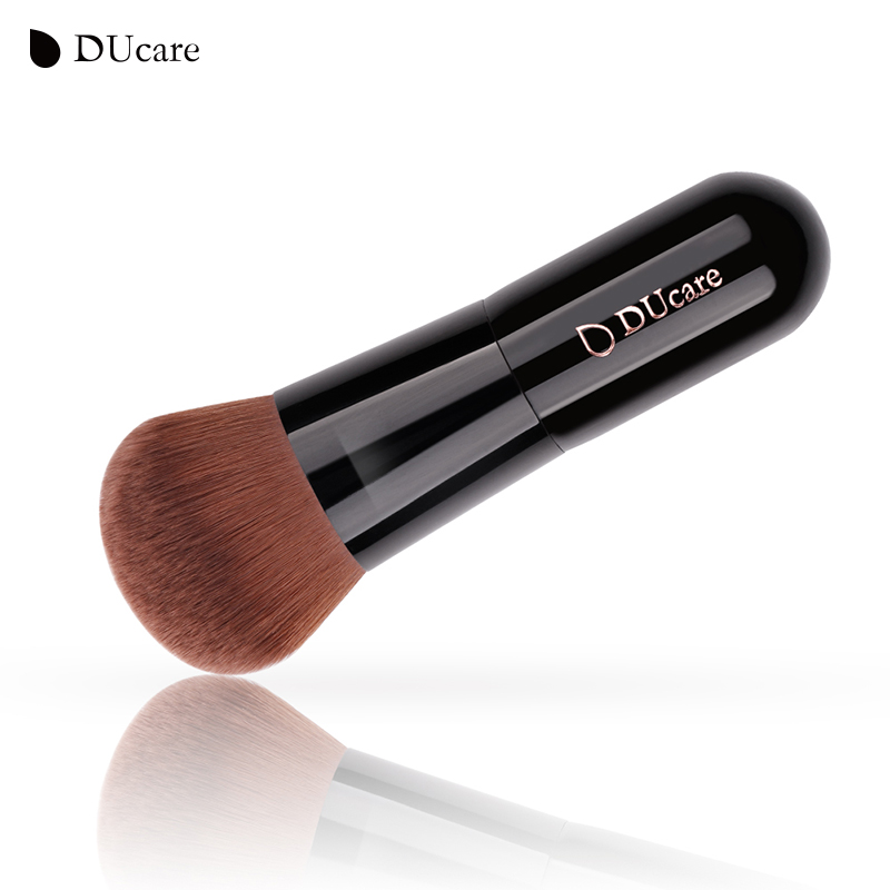 Ducare 1PCS poeder borstel professionele foundation make-up borstel hoogwaardige make-up kwasten top bruin synthetisch haar