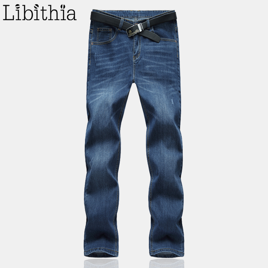 Men's Classic Jeans Pants For Men Straight Male Slim Fit Large Size Brand Masculino Casual Homme Denim Trousers Spring New E488 male slim fit pants for men fashion motorcyle men s straight jeans denim biker trousers male famous brand plus size 34 52 e492