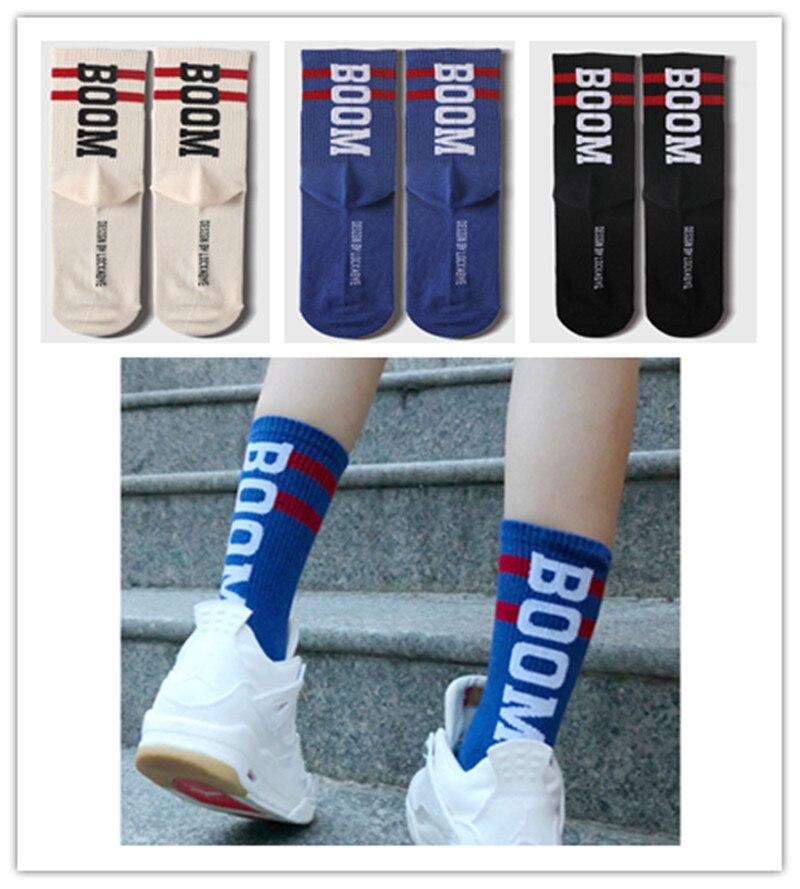 Fashion Women word printed socks Female Funny Hip hop Skateboard Socks High School Girls Cotton Long Socks hockey sock