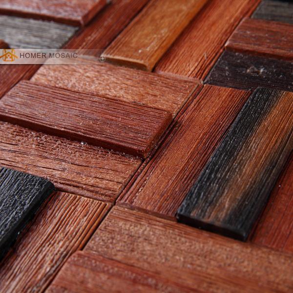 100 natural de madera rstica de madera backsplash azulejos de mosaico de diseo textura