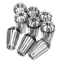 9pcs ER16 Spring Collet Set 1 32 To 3 8 High Accuracy For CNC Milling Lathe