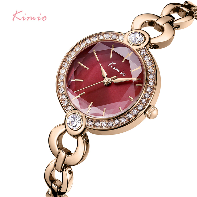 KIMIO Merk Dames Armband Horloges Voor Vrouwen Mode Kleine Wijzerplaat Horloge 2019 Top Merk Luxe Vrouwelijke Horloge Relogio Feminino