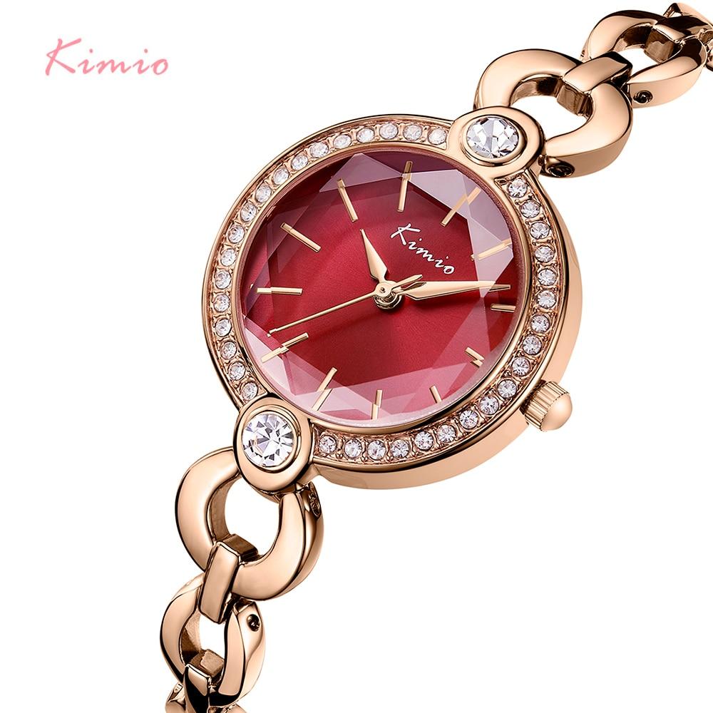 KIMIO marque dames Bracelet montres pour les femmes mode petit cadran montre 2019 Top marque de luxe femme montre-Bracelet Relogio Feminino