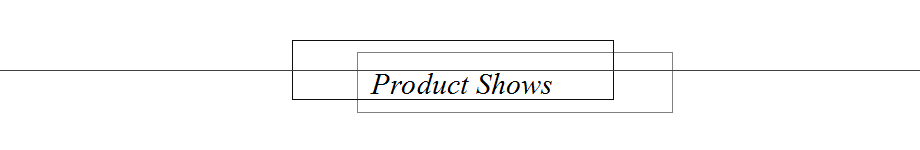 1 product shows