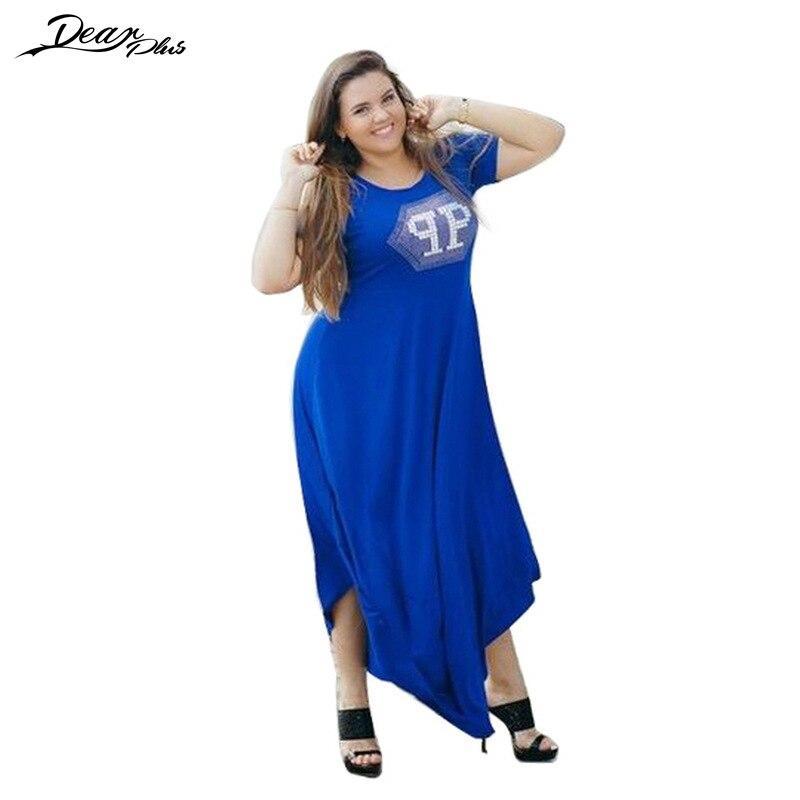2017 Summer Boho Plus Size Dress Women Casual Loose Long Dress Vintage Irregular Robe Maxi Dresses