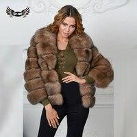 BFFUR Real Fox Fur Coat Luxury Brand Women Outwear Coat Natural Sable Fur Vest Waistcoat Genuine Full Fur Vest Real Fur 1529