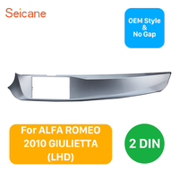 Seicane 2DIN Frame Car Stereo Fascia for2010 2016 ALFA ROMEO GIULIETTA Left Hand drive Stereo Installation Trim Panel Frame Kit