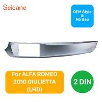 Seicane 2DIN Marco de coche estéreo Fascia for2010-2016 ALFA ROMEO GIULIETTA mano izquierda unidad estéreo instalación Trim Marco de panel Kit