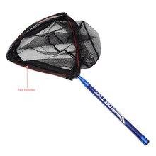 Lixada 2.1M Fishing Net Rod New Telescopic Extension Carbon Fiber Fishing Brail Net Rod Handle Fishing Tackle