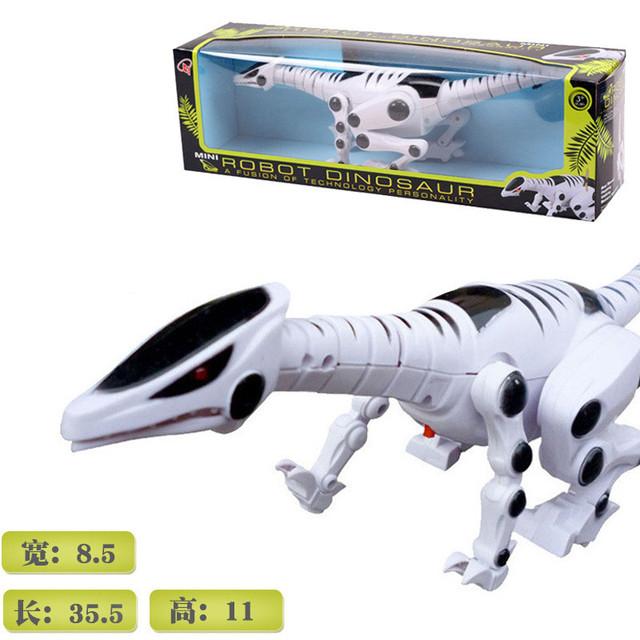 Em Estoque alimentado andar dinossauro modelo de música luz elétrica das Crianças simulação brinquedos puzzle para Crianças Brinquedos de presente de aniversário