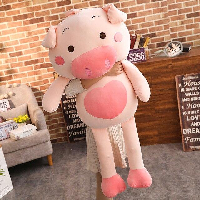 40-110 cm tamanho Maior brinquedos Dos Desenhos Animados pink pig plush brinquedos porco gordo travesseiro macio almofada porco zodíaco Chinês aniversário da boneca presente do miúdo do bebê