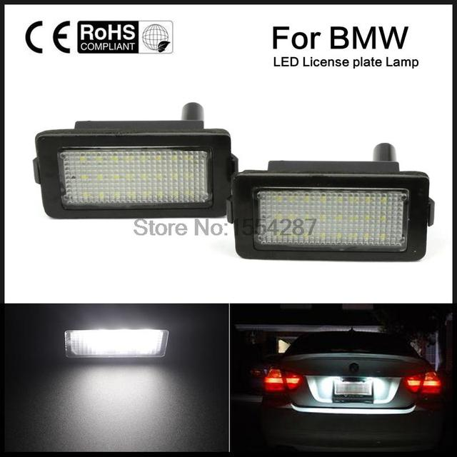 1 PAIR x License Plate Light Lamp White for BMW E38 High quality Canbus Error free directly install