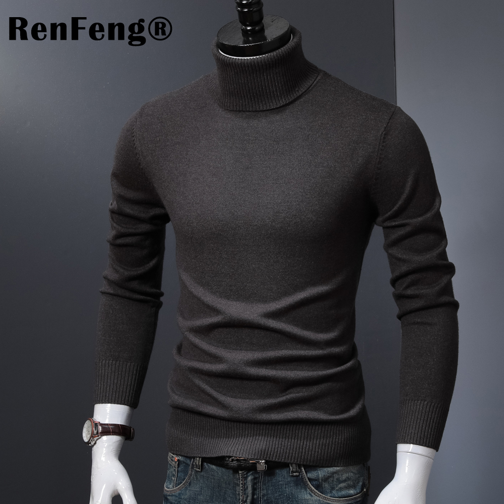 Winter Thick Warm Cashmere Sweater Men Turtleneck Mens Sweaters 2018 Slim Fit Pullover Men Classic Wool Knitwear Pull Homme (9)