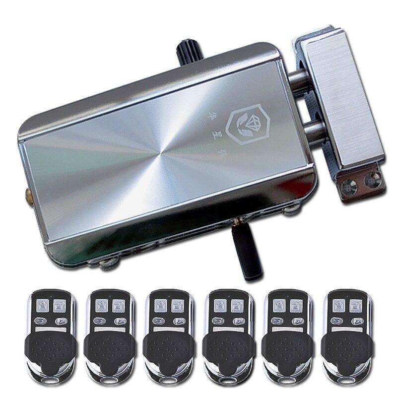 DIY Smart Electronic Lock HXQ-909 Stealth Wireless Remote Control Home Door Locks home electronic invisible wireless locks stealth remote control smart dark lock anti theft door lock