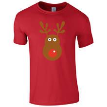 Футболка rudolph с изображением оленя Рождественский Ретро подарок