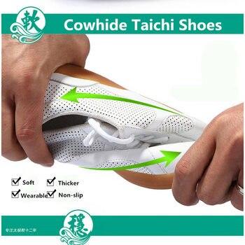 Real Cowhide Taichi Shoes Wushu Shoes Tendon Bottom Shoes for Men and women Taichi