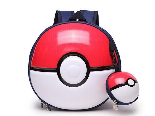 POESECHR New Baby Backpacks New Blue Wizard With Poke Ball Primary School Children's  Boy Girls School Bag