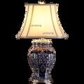 Современная керамическая настольная лампа Jingdezhen  китайская ретро настольная лампа  настольная прикроватная лампа для спальни  домашний де...