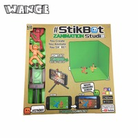 WANGE Stikbot Toy Sucker DIY Sticky Robot Dog Studio Action Figure Toy Kids Game Toys For