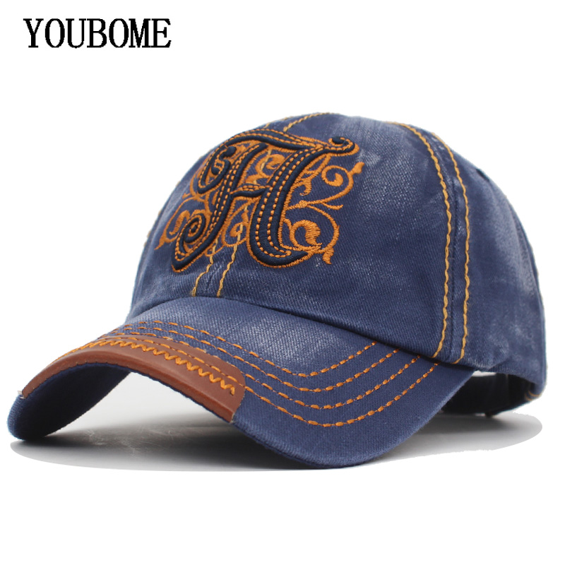 YOUBOME Men Snapback   Caps     Baseball     Cap   Women Hats For Men Fitted Denim Jeans Casquette Bone Male Casual H Dad Hip Hop Hat   Caps