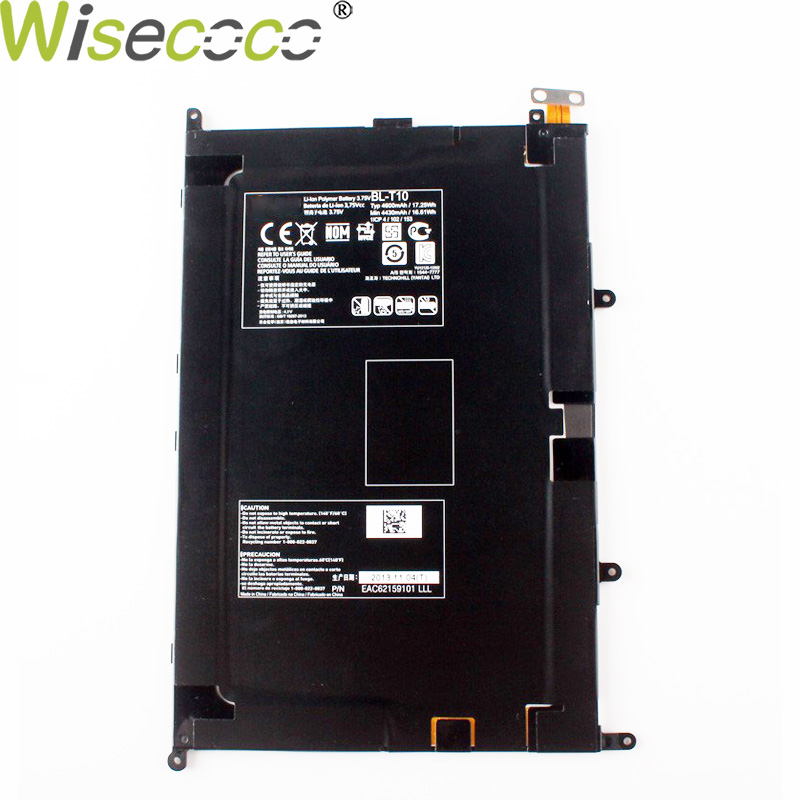 Wisecoco New Original 4600/5100mAh <font><b>BL</b></font>-<font><b>T10</b></font> Battery For LG GPAD G PAD 8.3 VK810 V500 Phone Replace High Quality + Tracking Number image