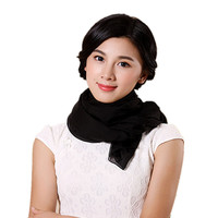 Alta qualidade 2016 novo inverno cachecol xale 100% lenços de seda preto 195 * 65 cm