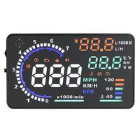 5.5 дюймов Высокое разрешение HUD Дисплеи OBD2 OBD II euobd проектор overspeed temp сигнализации w/нанотехнологии Электроника для автомобиля