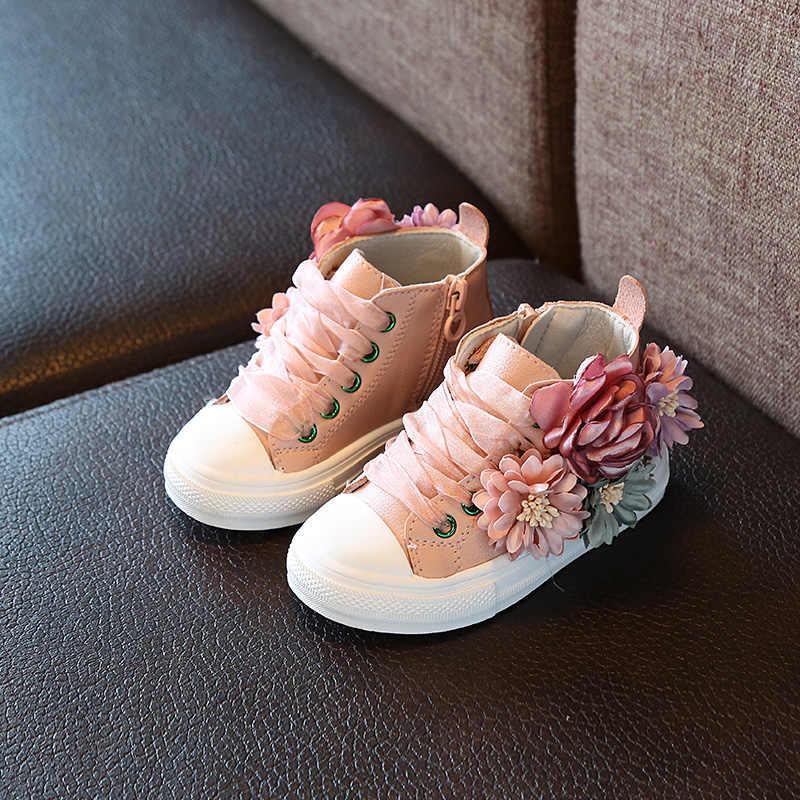 ฤดูใบไม้ร่วงใหม่แฟชั่นเด็กรองเท้ากลางแจ้ง super Perfect ออกแบบเจ้าหญิงน่ารักรองเท้าสบายๆ 1-3 ปีเก่า