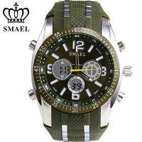 SMAEL 30M Waterproof Man Outdoor Sports Watch Fashion Luxury Brand Military Watches LED Quartz Dual Display