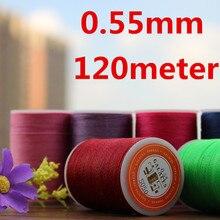 Hilo encerado YL055 0,55mm para coser cuero, hilo de cuero