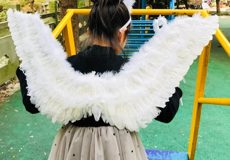 full size wings kids child children angel wings lolita kids angel wings Cosplay Costume Feather child Fairy wings Party gift