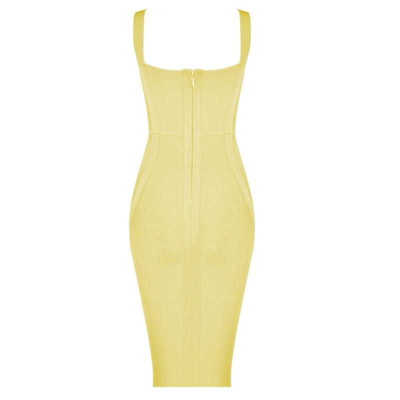 Rayon Bandage Bodycon Dress