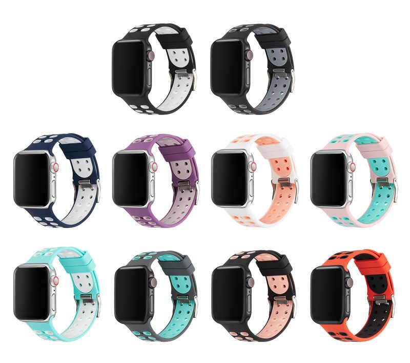 Silikon yedek Iwatch bantları silikon kayış Apple Watch için Series4/3/2/1 81005