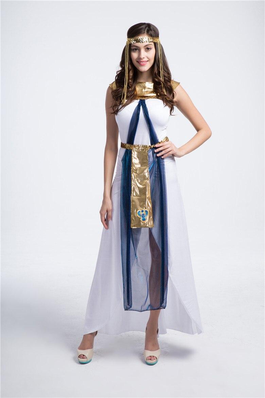 diosa griega del traje de halloween ropa de mujer vestido de fiesta vestido de cleopatra cos