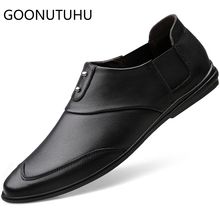 2019 new fashion mens shoes casual genuine leather cow loafers male brown black slip on shoe man driving for men hot sale